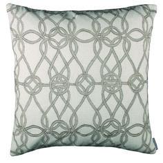 Lili Alessandra Gypsy Square Pillow in Ivory Natural Linen @Demi Bredefeld Ryan #demiryanhome #homedesignboutique #design #shopping