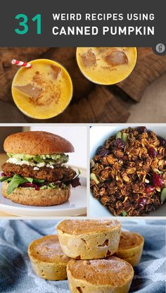 It's that time of a year... and I'm a sucker for autumn... 31 Weird But Awesome Recipes Using Canned Pumpkin