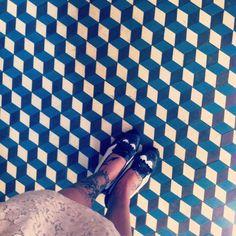 Blue boxy tiling #tiling