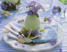 Mesas decoradas para a Páscoa