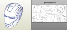 IRON MAN Mark 4/6 Pepakura FOAM Templates