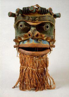 vintage postcard sean monster mask 1900 by issoucoffee, via Flickr