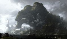 Concept Art Writing Prompt: The Great Rock Hand