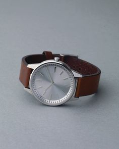 250 Series Brushed/Walnut watch by Uniform Wares