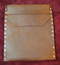 distressed brown genuine leather ipad case