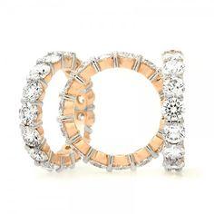 Platinum & Rose Gold Diamond Wedding Band 109-10323