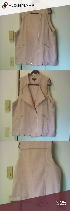 Vest Pink vest can be worn a couple of different ways.  Looks and feels like wool.  Gold hardware. Fully lined. Never worn.  Thanks for stopping by! Spirited, Randolph Duke  Jackets & Coats Vests