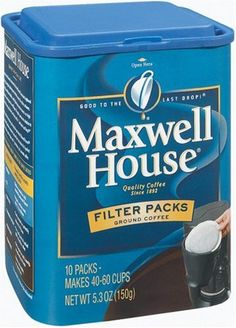 Maxwell House Filter Packs Ground Coffee 10Count Canisters Pack of 6 *** This is an Amazon Associate's Pin. Detailed information can be found on Amazon website by clicking the VISIT button