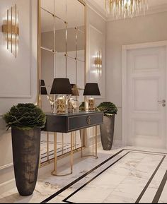 """Chanel: """"Sharing some gorgeous entryway/wall table decor. Enjoy and and have a wonderful night! Please swipe and tap for page owners. Entrance Hall Decor, House Entrance, Small Apartment Design, Diy Apartment Decor, Apartments Decorating, Decorating Bedrooms, Decorating Ideas, Decor Ideas, Interior S"""