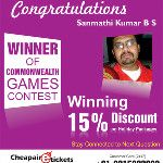 Winner of Cheapairetickets.in. - via @cheapairticket4