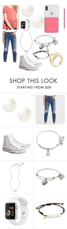 """Birthday OOTD"" by hope-halat on Polyvore featuring Banana Republic, American Eagle Outfitters, Converse, Alex and Ani, Kendra Scott, TOUS and Kate Spade"