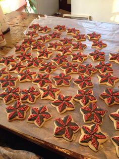 Ninja star cookies