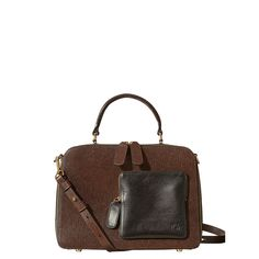 Orla Kiely: Structured Textured leather bag.