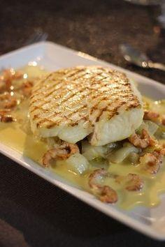 Recept 'Gegrilde griet met witloof en grijze garnalen' | njam!