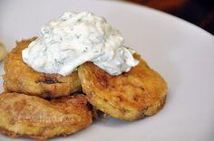 Dovlecei pane - reteta Tzatziki, Mashed Potatoes, French Toast, Vegetarian, Breakfast, Ethnic Recipes, Food, Kitchens, Whipped Potatoes