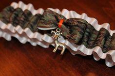 Camo garter with deer charm- Garters by Erin