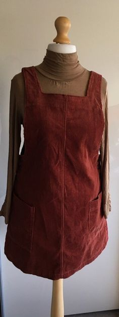 f6196802a9e Urban Outfitters BDG Corduroy Russet Brown Pinafore Dress