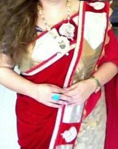 Velvet saree