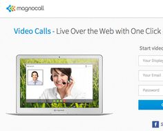 Browser-based, no-downloads free one-to-one video-conferencing - unlimited calls and time - max 2 people - www.magnocall.com