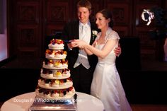 Cutting wedding cake at RIBA