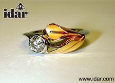 idar's fantastic Calla Lily Solitaire ring…always handmade and always spectacular. #idar