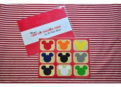 Mickey Mouse Match Game from paint chips