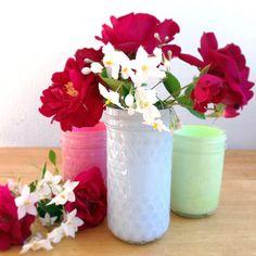 DIY Summer : DIY Painted Glass Jars