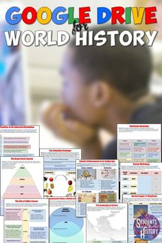 Google Classroom for World History! Hundreds of digital interactive notebook resources for ALL of World History!