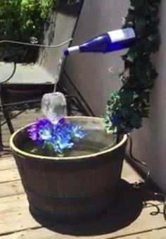 DIY Wine Bottle Fountain