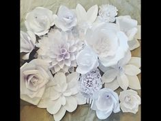 Creating a Paper Flower Backdrop: Flower 1 - YouTube