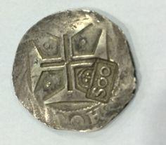 Brasil Colônia - RARIDADE - Moeda de Prata - 1663 - Amato P081 - ponto em cima do zero de 500 Reis - sobre 1 cruzado D. João IV de Lisboa - confira a fotos