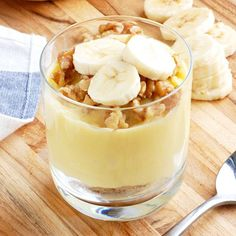 Guilt-Free Banana Pudding- my favorite healthy dessert! It is completely dairy free and gluten free.
