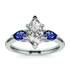 Marquise cut and little pear sapphires...