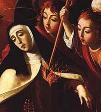 Teresa of Avila. Josefa de Obidos, Transverberazione di S Teresa d'Avila, c 1672, Universita di Coimbra