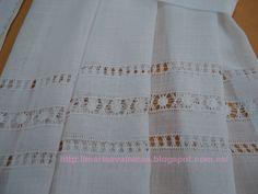 El Arte de Bordar Vainicas: septiembre 2012 Hardanger Embroidery, Learn Embroidery, Embroidery Stitches, Embroidery Patterns, Hand Embroidery, Drawn Thread, Thread Work, Cross Patterns, Stitch Patterns
