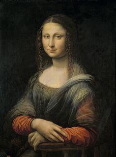 """Gioconda del Prado antes de ser restaurada. """"Hermana gemela de la original, la de Leonardo. Por lo visto, se pintaron al mismo tiempo (no es una réplica). En este artículo de El País (http://cultura.elpais.com/cultura/2012/02/01/actualidad/1328129037_819926.html) puedes compararla con la original pasando el ratón sobre la imagen."""""""