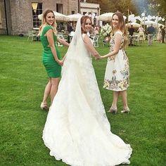 Tanya Burr's wedding dress. (Photo: Instagram)