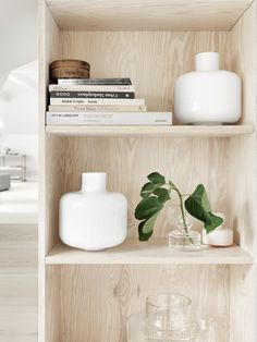 Carina Seth Andersson Vases for Marimekko- wood shelving Decor, Vase Design, Flower Vase Design, Marimekko, Interior, Wood Interiors, Home Decor, Home Collections, Home Deco