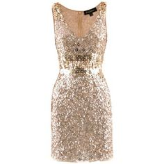 Jenny Packham Gold Sequin Dress.  I LOVE THIS DRESS.  Wish I had somewhere to wear this to!