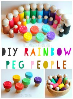 Make some DIY rainbow peg people and toadstools too for imaginative play, counting and storytelling. These are a perfect homemade gift for preschoolers or to make for a classroom resource. SO easy too! A few years ago I made the kids a set of rainbow fairy peg dolls which they've loved and used often in...Read More »