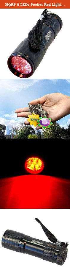 "HQRP 9 LEDs Pocket Red Light Flashlight for Viewing Star Maps / Nighttime Activities plus HQRP UV Meter. HQRP Red Flashlight is perfect for when you have to read or focus in the dark and you don't want to loose your night vision. The red light has a wavelength of about 650nm. Nice for looking at star maps or for maintaining night vision with general use around the campsite; for use with red-light readable topographic maps; night-time astronomy; Sea Turtle Night Patrol; perfect for ""Star..."