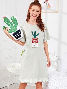 Cute Sleepwear, Sleepwear Women, Pajamas Women, Pajama Outfits, Dress Outfits, Fashion Outfits, Cute Pajama Sets, Cute Pajamas, Trendy Dresses
