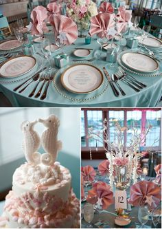 Colors are divine. Such a nice twist on beach decor!