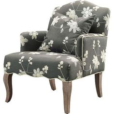 Shop Joss & Main for your Linda Arm Chair. Feminine style and a charming design makes the Floral Arm Chair delicate and sweet. The curved back mimics the design of the curvy gray washed legs.