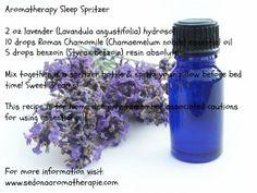 Aromatherapy Sleep Spritzer: