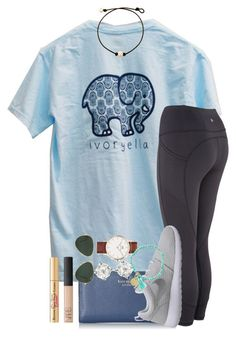 """""""my short sleeve ivory Ella came! {one in set}"""" by thefashionbyem ❤ liked on Polyvore featuring Kate Spade, NIKE, Ray-Ban, Carolee, Daniel Wellington, NARS Cosmetics and Too Faced Cosmetics"""