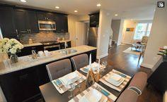 our color cabinets and granite...floor color idea?