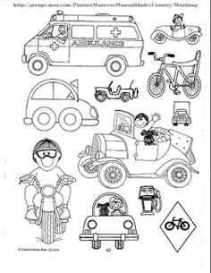 Land Transportation Coloring Pages for Kids - Preschool and Kindergarten Trains Preschool, Transportation Preschool Activities, Transportation Worksheet, Transportation Activities, Preschool Printables, Preschool Crafts, Kindergarten Worksheets, Train Coloring Pages, Coloring Pages For Kids