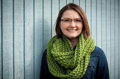 Crochet cowl green, chunky crochet scarf by TheKnottyNeedle on Etsy $50.00 #chunkycowl #crochet #crochetcowl