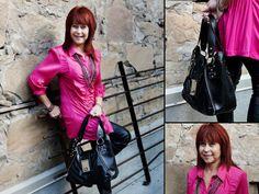 Blouse, purse, earrings, necklace, and bracelets from Twigs. http;//www.twigs.ca Twigs Lookbook